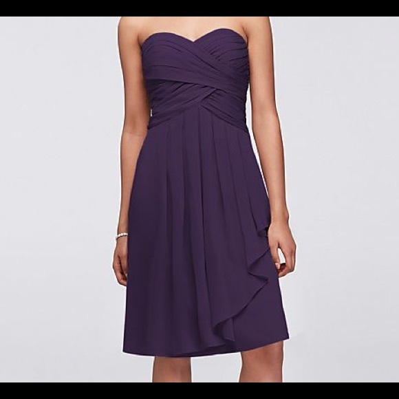 83dc24127d06 David's Bridal Dresses | Davids Bridal F14847 Size 12 Color Lapis ...